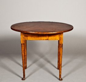 18th Century Oval Queen Anne Maple Tea Table With Pa