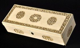 Chinese Export Ivory Box, Qing Dynasty