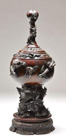 Chinese Bronze Lamp