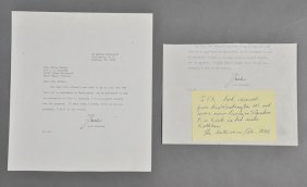 1942-Feb, John F. Kennedy,  Signed Letter