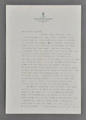 1945-Jan, J. F. K., Signed Letter (Rare)