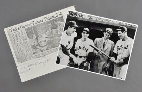 1946-May, John F. Kennedy, Photo With Red Sox