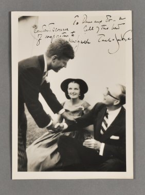 1953-Sept 12, J.F.K. And Jackie, Signed Photo