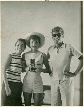 1954-Jackie, Ethel And J.F.K. Photograph