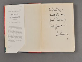 "1955-J.F.K., Signed, ""Profiles In Courage"""
