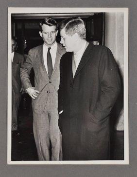1962-Jan 15, J.F.K., With Bobby Kennedy