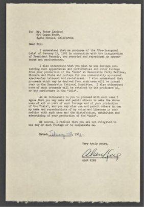 Alan King Signed Letter Of Release