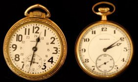 Hamilton And Burlington Pocket Watches