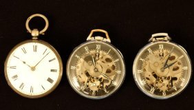 (1) English & (2) Girard-perregaux Pocket Watches