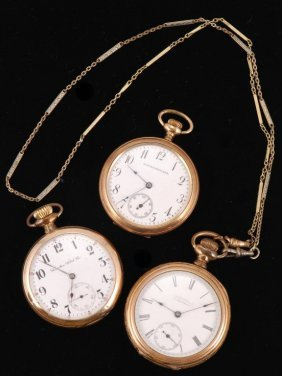 (3) Gold Filled Pocket Watches