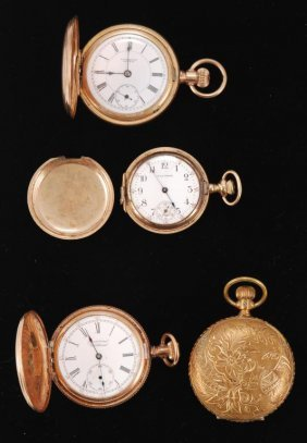 (4) Gold Filled / Plated Pocket Watches