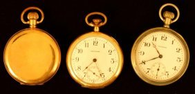 (2) Waltham And (1) Elgin Pocket Watches