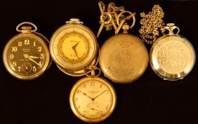 Assortment Of (5) Pocket Watches