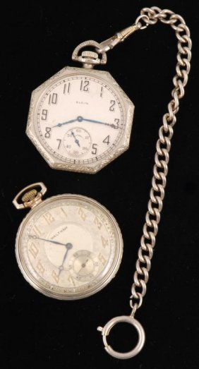 (2) Small Pocket Watches- Elgin And Waltham