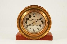 Brass Ship's Bell 8 Day Maritime Clock