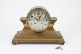 Chelsea Tambour #1 Brass Mantle Clock With Strike