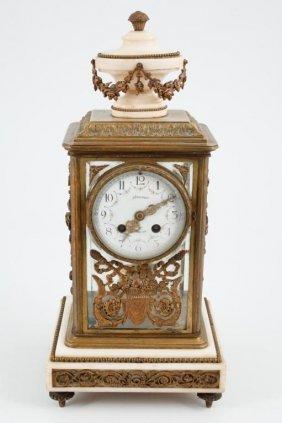 A.d. Mougin Deux Medailles Paris Mantle Clock