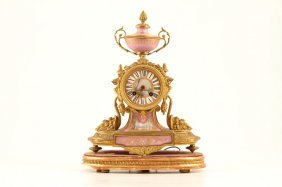 French Japy Freres Ormolu Mount Shelf Clock