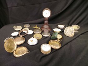 Large Collection Of Watch Crystals And Watch Parts