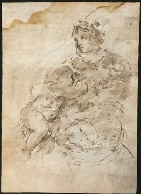 (18th C) Italian School Old Master Pen And Ink