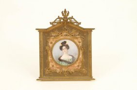 Portrait Miniature On Ivory Of Royal Signed David