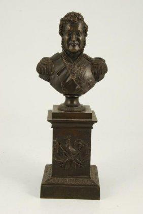 (19th C) Grand Tour Bronze Bust On Plinth