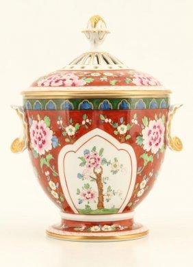 Hand Painted Dresden Porcelain Urn