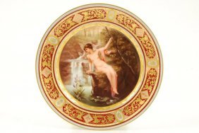 "Royal Vienna Cabinet Plate Signed ""marko"""