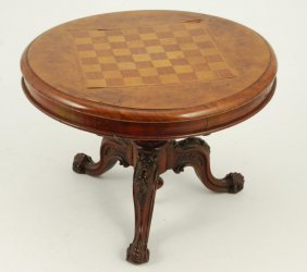 (19th C) Victorian Period Miniature Game Table