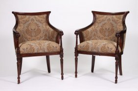Pair Of Contemporary Open Armchairs