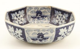 (19th C) Japanese Octagonal Bowl