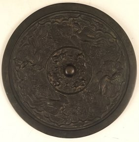 (18th/19th C) Chinese Bronze Mirror