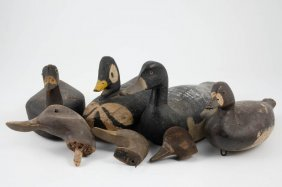(4) Carved And Painted Working Decoys
