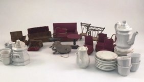 Doll House Furniture And Tea Set