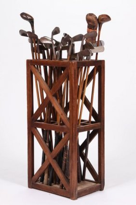 Early 20th C Fruitwood Divided Stand