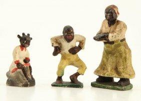 Black Americana (3) Cast Iron Figurines