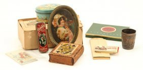 Lot Of Tin Boxes And Advertising