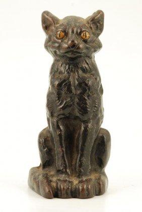 Cast Iron Black Cat Door Stop