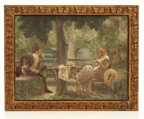 Bradley And Hubbard Painted Cast Iron Plaque