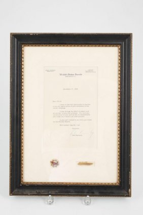 John F. Kennedy Us Senate Signed Letter 1958