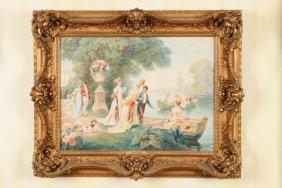 Lionel Peraux (french, B. 1871) Watercolor