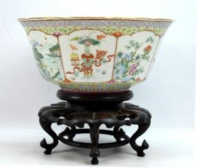 Christie's Qing Chinese Enameled Porcelain Bowl