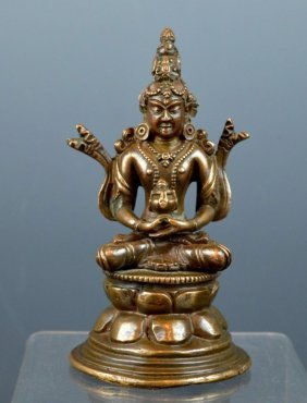 Pala Style Amitayus Seated Bronze