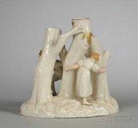 Royal Worcester Porcelain Figural Group, England, La