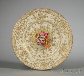 Ten Royal Worcester Bone China Service Plates, Engla