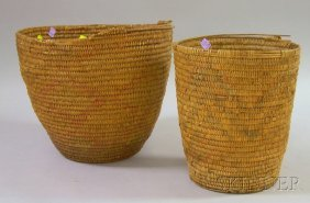 Two Southwestern Baskets, One Probably Apache, Ht. 1