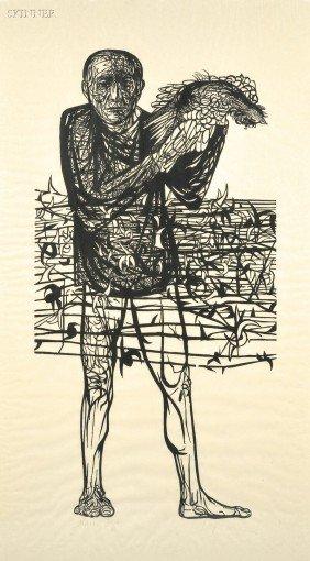 Leonard Baskin (American, 1922-2000) Man Of Peace, 1