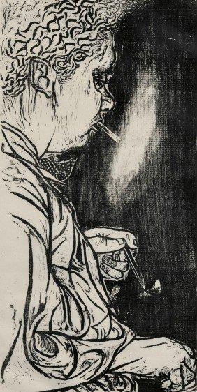 Antonio Frasconi (Argentine, B. 1919) Portrait Of D