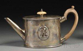 George III Silver Teapot, London, 1779, Andrew Foge