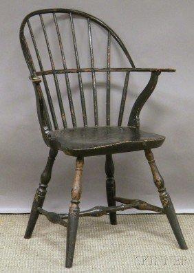 Black-painted Windsor Sack-back Armchair.  Provena